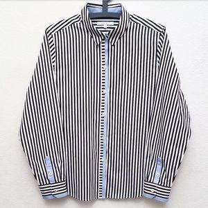 Foxcroft Black, White & Blue Button Up Shirt